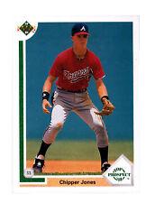 1991 Upper Deck Chipper Jones Atlanta Braves #55 Baseball Card