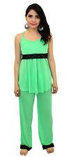 NEW Maternity Nursing Bra Green Pajama Night Gown Breastfeeding Set Lace S M L X