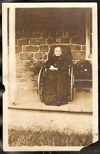 RPPC Mrs Graves ELDERLY WOMAN IN WHEELCHAIR Photo PC RP