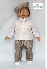 Baby Boy vestito SMART Suit Tie Cappello Panciotto Da Matrimonio Battesimo Bianco 0-18M