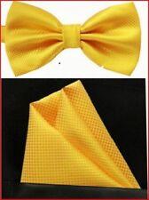 Men's Pre-Tied Silk BowTie and Pocket Square Set