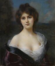 Abbey Altson (English, 1866-1949), Portrait of a Woman Giclee Canvas Print