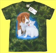 Kinder T-Shirt Hund Katze,Gr.86*92*98*104*110*116*122*128*134*140*146*152* Cat