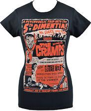 Donna Nero T-shirt i crampi GIG psychobilly Garage HORROR PUNK LUX S - 2XL