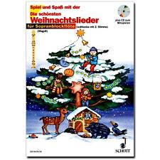 Die schönsten Weihnachtslieder für 1-2 Sopran-Blockflöten