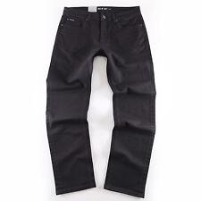 BIG SEVEN NERO OPACO Regular Straight Jeans Uomo Pantaloni di dimensioni oversize XXL