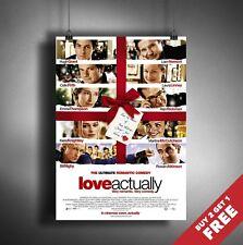 LOVE ACTUALLY 2003 MOVIE POSTER A3 A4 * Classic Romantic Drama Comedy Film Print