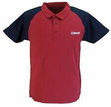 Lambretta rojo oscuro / Azul Marino Jersey Camisa pólo de algodón…