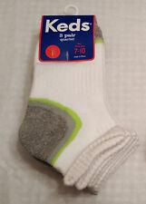 Boys New Set of 3 Keds Quarter Socks: (Shoe Sz-7-10)--(Shoe Sz-9-3)
