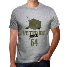 Veteran Since 64 Homme T-shirt Gris Cadeau D'anniversaire