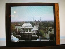 Antique 30s/40s Indian Magic Lantern Glass Slide Taj Mahal Mosque