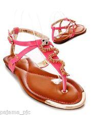 New Women's Fashion Trendy Snake Pattern T-Strap  Flat Sandal Summer casual