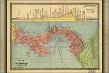 Poster, Many Sizes; Map Of Panama 1904