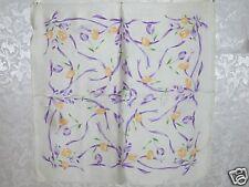 New 100% Charmeuse Silk Scarf Bandana Purple Tulip