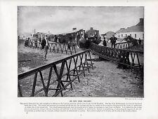1897 VICTORIAN PRINT ~ IRISH RAILWAY LARTIGUE PRINCIPLE LOCOMOTIVE ~ LISTOWEL