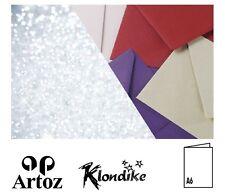 50 Artoz Papier Klondike Doppelkarten DIN A6 hoch 300g Farben Klappkarten