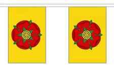 Lancashire Flag Bunting - 3m 6m 9m Metre Length 10 20 30 Flags - Polyester