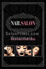 Nail Salon Poster - Custom Nail Salon Poster Name || P-174