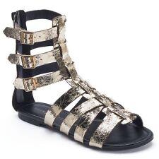 Rock & Republic LUNAR Women's Gold Gladiator Sandals, Sizes 5; 5.5