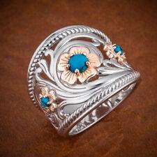 Pretty Wedding Rings Women Fashion 925 Silver Blue Sapphire Jewelry Size 5-11