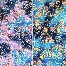 Butterfly Design 100% Cotton Batik Fabric Featuring Butterflies - 112cm - Metres