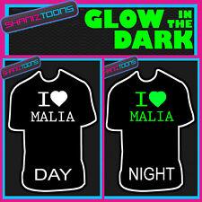 I Love Cuore Malia Glow in the Dark T-Shirt Stampata