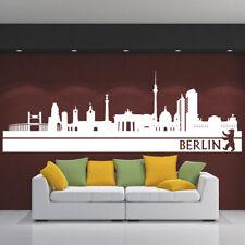 Wandtattoo Wandaufkleber Skyline BERLIN Stadt Deutschland capital germany +244+