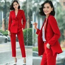 Womens Ladies Coat Pant Suit Trouser Formal Business Office Elegant Slim Fit Hot