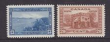 Canada Sc 242, 243 MLH. 1913 13c + 20c Pictorials VF