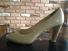 Coach Helaine Women's Pumps Classic Peep Open Toe Heels Patent Leather Sandals