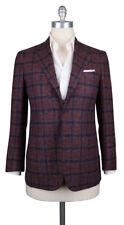New $9000 Kiton Light Brown Cashmere Plaid Sportcoat - (KTUG811I3520)