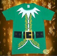 New Elf Christmas Men's Suit Ugly Sweater Santa T-Shirt