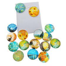 10 Piezas cúpula de cristal Cabuchones Adorno Ronda Mixta 20 Mm