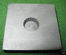 Optic Mold Graphite Lampwork Glass Bead 18pt 1/4deep 3D