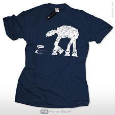 AT AT attacks T-Shirt | Star Wars Satire | ATAT Nerd Krieg der Roboter Sterne