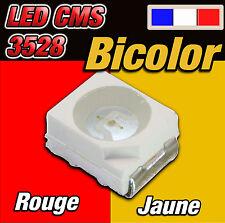 143# LED CMS 3528 bicolor rouge / jaune 10 à 100pcs -- red / yellow