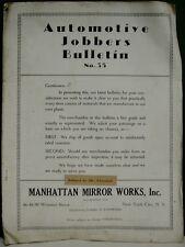 1920's Automotive Jobbers Bulletin #35 Auto Accessories