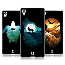 HEAD CASE DESIGNS ANIMAL DOUBLE EXPOSURE SOFT GEL CASE FOR SONY PHONES 2
