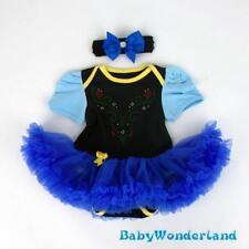 Baby Girl Frozen Anna Costume Party Birthday Tutu Dress Headband Set Size 000-1