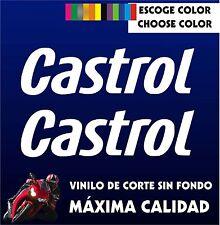 2 X PEGATINAS -STICKER- VINILO - PACK - Castrol - Moto Sponsor -AUFKLEBER -VINYL