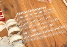 Kawaii 1.5 cm Lindo Elegante con Encaje y patrones Transparentes Deco cinta de envoltura de regalo 10 M