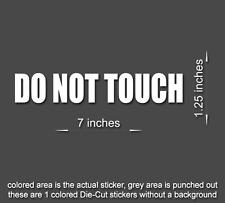 DO NOT TOUCH Sticker Business Door Window Vinyl Decal