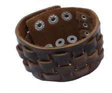 Echt Lederarmband geflochten schwarz oder braun 4,3 cm breit
