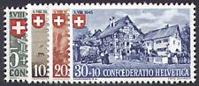 Schweiz Nr. 460-463 postfrisch ** MNH / gestempelt Pro Patria 1945