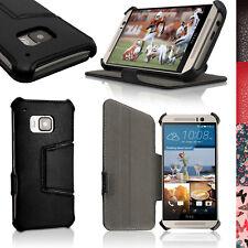 PU Cuero Funda Carcasa Piel para HTC One M9 Soporte Case Cover + Prot Pantalla