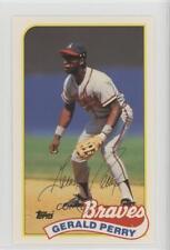 1989 Topps/LJN Baseball Talk #150 Gerald Perry Atlanta Braves Card