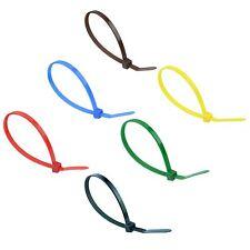 Nylon Cable Ties Zip Tie Wraps - Various Colours & Sizes