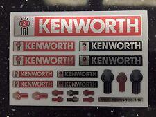 TAMIYA 1/14 KENWORTH - RED + CHROME/REFLECTIVE stickers FREIGHTLINER GLOBELINER