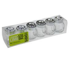Spice Mini Glass Jars Silver Lid Bottle Jam Storage Herb Container Jar 50ml