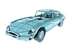 460mm 1:10 Jaguar E-Type 66 Wooden Classic Sport Car Model Flat Pack, Great Gift